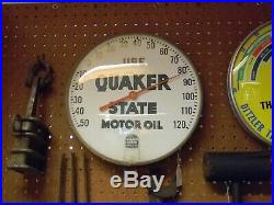 12'' Original Use Quaker State Motor Oil Vintage Advertising Thermometer