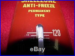 40-50s Vintage Shell Oil ShellZone Antifreeze vintage thermometer Gas Oil RARE