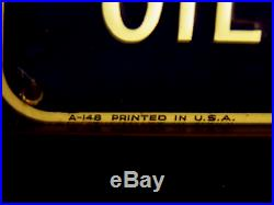 Ac Oil Filters Vintage Sign Wow! Rarely Seen, Nice Gm Chev Delco Embossed Gmc
