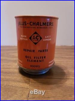 Allis Chalmers Genuine Parts Oil Filter Element Farm Tractor Vintage Old Sign