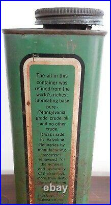 Antique Vintage EARLY VALVOLINE GALLON MOTOR OIL CAN RARE ADVERTISING DISPLAY