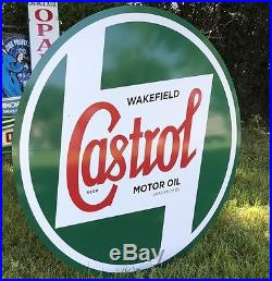 Antique Vintage Old Style Castrol Motor Oil Sign. 36! WOW