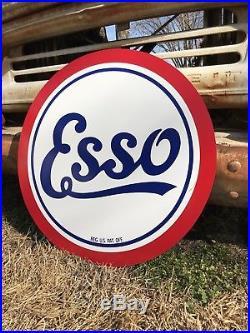Antique Vintage Old Style Esso Gas Oil Sign
