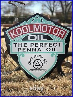 Antique Vintage Old Style Kool Motor Oil Sign