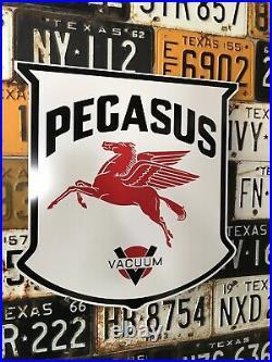 Antique Vintage Old Style Mobil Pegasus Vacuum Gas Oil Sign