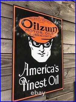 Antique Vintage Old Style Oilzum Motor Oil Sign