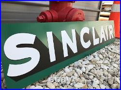 Antique Vintage Old Style Sinclair Gas Oil Shop Sign