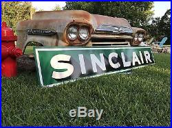 Antique Vintage Old Style Sinclair Motor Oil Gas Sign