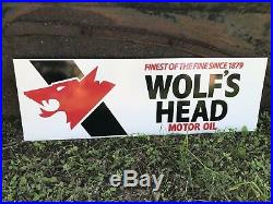 Antique Vintage Old Style Wolfs Head Motor Oil Sign
