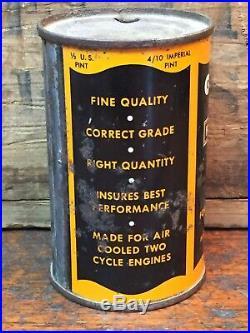 Antique Vintage Original Harley Davidson Oil 1/2 Pint Motor Oil Two Cycle Motor