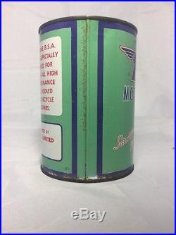 BSA Motorcycle Oil Tin quart Can Vintage RARE circa 1950's not full EMPTY