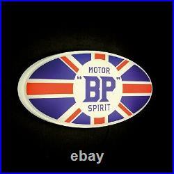 Bp Motor Spirit Led Illuminated Light Up Garage Sign Vintage Gasoline Gas & Oil