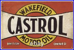 Castrol Wakefield Motor Oil Vintage XLarge Tin Sign (80 x 53cm)