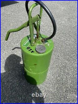 Castrol hand crank oil pump, petrol pump, vintage garage