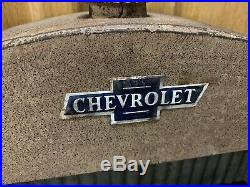 Chevrolet Radiator Shelf Sign Metal Wall Decor Vintage Style Gas Oil Can Display