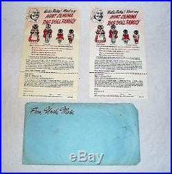 DC Vintage Aunt Jemima Oil Cloth Dolls-Uncle Moses, Wade, Diana+ Advertisements