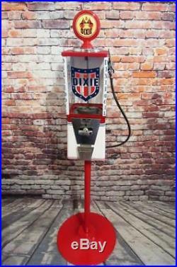 Dixie oil gas vintage gumball machine bar office decor man cave gift memorabilia