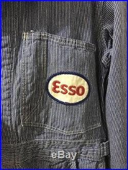 ESSO Gas & Oil Coveralls Service Station Work Uniform TRUE VINTAGE