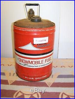 Ex! Vintage Ariens Arrow Snowmobile Fuel Gas Can Gas Oil MIX Brillion Wi