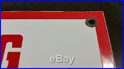 Flying A porcelain sign oil gas vintage gasoline pump plate