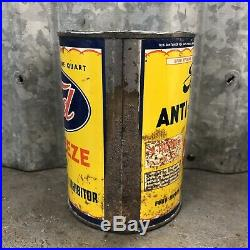 Ford Anti-Freeze Quart Oil Can Metal Vintage