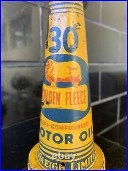 GOLDEN FLEECE MULTI-COMPOUND Genuine Vintage Tin Oil Bottle Top