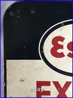 Genuine Vintage ESSO Extra Motor Oil Metal Sign 24 (61 cm) X 19 (49 cm)