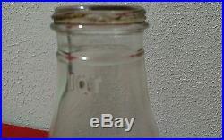Handy oiler gas oil glass bottle vintage quart metal spout danville indiana