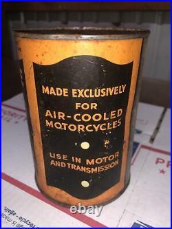 Harley-Davidson Motorcycle Quart Oil Can Vintage Metal Full 1930s/40s Lead Seam