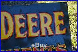John Deere Tractors Metal Embossed Sign Vintage Gas Oil Porcelain Sign Lubester