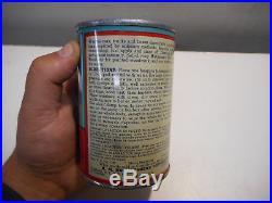 L1673- Vintage 6 OZ WHIZ SPEEDRY POWDERED CAR WASH OIL TIN METAL SIGN CAN