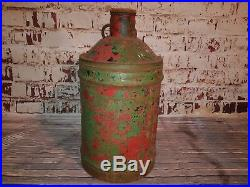 Large Antique Old Vintage Wakefield Castrol Motor Oil Petrol Fuel Tin Can Drum