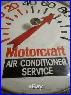 Large RARE Vintage Ford Motorcraft Gas Oil 18 Metal Thermometer Sign