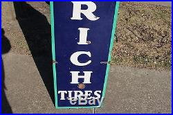 Large Vintage 1930's Goodrich Tires Gas Station Oil 78 Porcelain Metal Sign