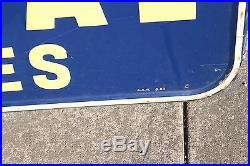 Large Vintage 1950 U. S. Royal Farm Tires Tractor Gas Oil 69 Embossed Metal Sign
