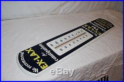 Large Vintage 1950's Ex-Lax Medicine Drug Gas Oil 39 Metal Thermometer Sign
