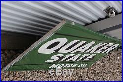 Large Vintage 1950's Quaker State Motor Oil Gas Station 70