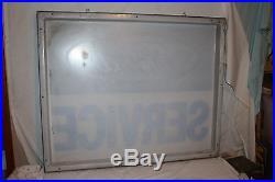 Large Vintage Ford Service Car Dealership Gas Oil 49 Sign WithHanging Frame