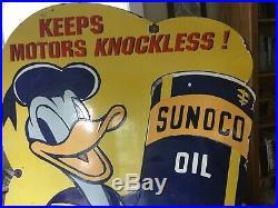 Large Vintage Sunoco Oil Disney Sign