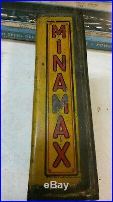 Minamax Oil Can One Gallon Rare Vintage Gas Motor West Virginia Sign Car