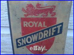 Motor Oil Can Vintage Royal Snowdrift