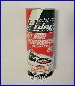 Nos Vintage Polaris High Performance Snowmobile Oil Advertising Can Full Can