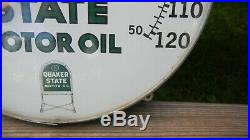 ORIGINAL Vintage Quaker State Motor Oil 12 Thermometer Excellent Condition