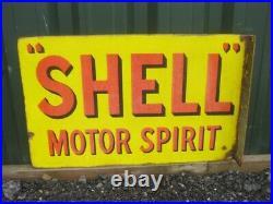 Old Vintage Antique Enamel Sign Garage Gas Petrol Oil Jug Globe Pump Shell Can