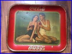Original 1934 Tarzan Coca Cola tray vintage sign gas oil advertising