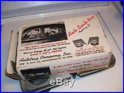 Original 1940' s Vintage Rat Hot rod Auto trays car hop nos old gas oil original
