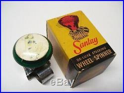 Original 1950' s Vintage Rat Hot rod Pinup Steering wheel knob gas oil original