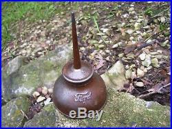Original Ford motor co. Automobile oil Tool can promo accessory vintage oiler