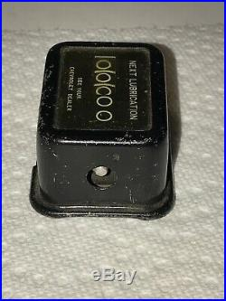 Original GM CHEVROLET 40s dash Oil lube Reminder auto promo vintage dealer Gauge