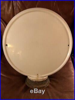 Original TEXACO SKY CHIEF All Glass GAS PUMP GLOBE Oil Vintage